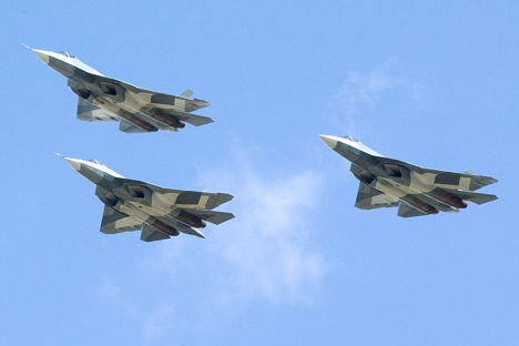The State Armament Program until 2020 sought the purchase of 52 T-50 fighter jets. Source: Sukhoi