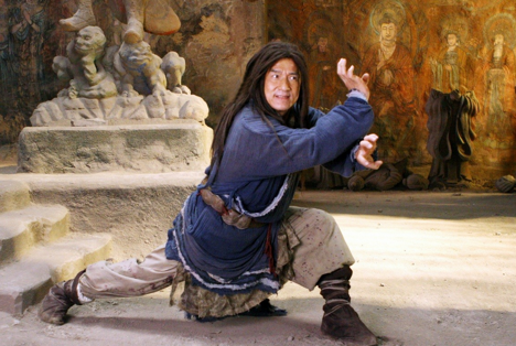 Still of Jackie Chan in The Forbidden Kingdom (2008). Source: Kinopoisk.ru