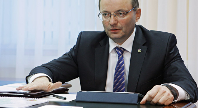 Alexander Misharin, first Vice-President of JSC 'Russian Railways'. Source: Alexei Druzhinin / RIA Novosti