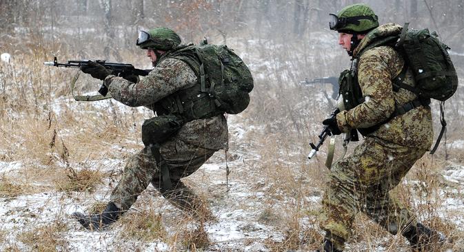 Russian soldiers using the Ratnik (Warrior) equipment. Source: RIA Novosti
