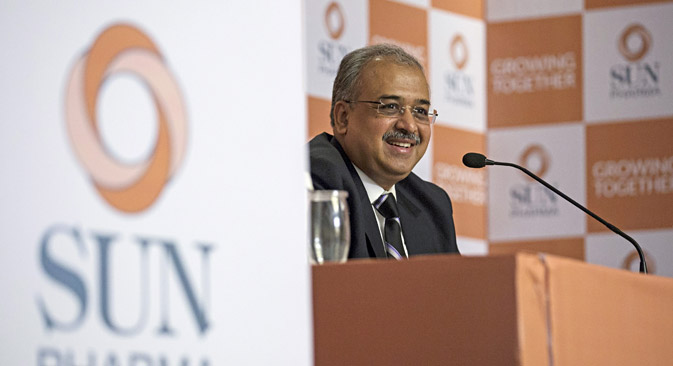 Dilip Shanghvi, Managing Director of Sun Pharma, told the media that the merger with Ranbaxy gives Sun the ability to invest in Research & Development. Source: Reuters