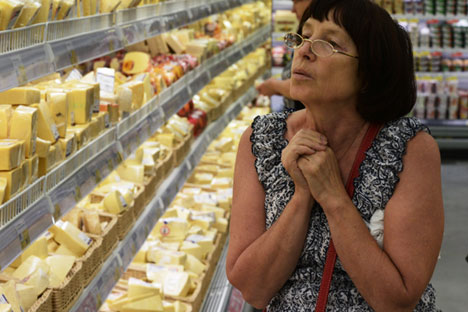 The Russian market is interested in quality dairy products, especially in hard cheeses. Source: Alexandr Kryazhev / RIA Novosti