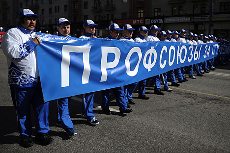 Russian trade unions are now recognized on an international level. Source: Vladimir Astapkovich / RIA Novosti