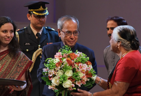 "Pranab Mukherjee at the opening ceremony of the Festival of Indian Culture ""Namaste Russia"" in Moscow. Source: Moskva News Agency"