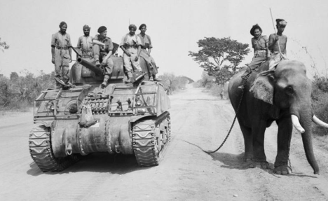 Sherman tank of the 9th Royal Deccan Horse, 255th Indian Tank Brigade, Burma 1945. Source: wikipedia.org