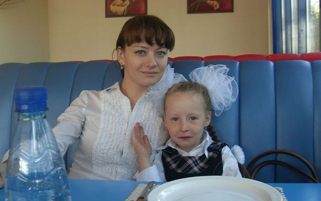 Vika Ivanova with her mother Julia. Source: Personal archive
