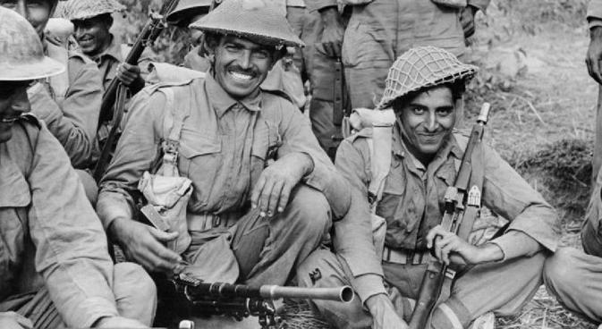 An Indian infantry, 7th Rajput Regiment about to go on patrol on the Arakan front in Burma, 1944. Source: wikipedia.org