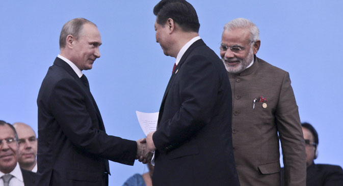 Moscow benefits from India being a strong military centre in the multi-polar world, which influences the global strategic balance. Source: EPA
