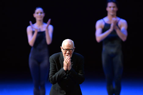 Benois de la Danse laureate and Dutch National Ballet choreographer Hans van Manen during the gala concert at the Bolshoi Theater in Moscow. Source: Ilya Pitalev / RIA Novosti
