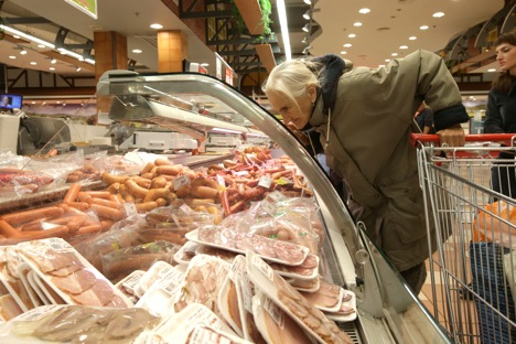 Russia introduced an embargo on food imports in August 2014 in retaliation to the sanctions imposed by the United States, Australia, Canada, the European Union and Norway against Moscow. Source: Valery Melnikov/RIA Novosti