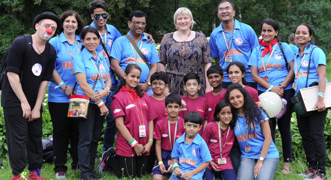 The Indian children participated in running, swimming, football competitions, table tennis, chess and other competitions. Source: Alexandra Katz