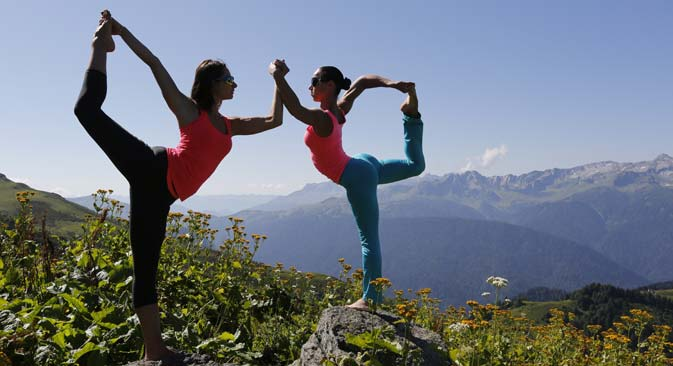 Yoga has spread across the length and breadth of Russia. Source: Valery Matytsin/TASS