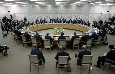 Expanded meeting of the SCO Heads of State Council. Source: SCO2015.ru