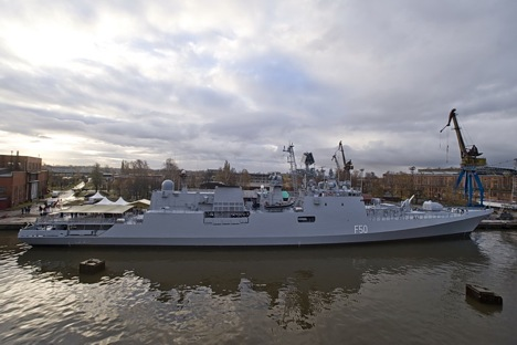 Between 2003 and 2013, Russia delivered six Project 11356 frigates to India. Source: Rossiyskaya Gazeta