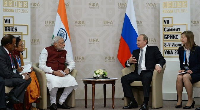 Modi specially thanked Putin for initiating the process of India becoming a full member of the SCO. Source: BRICS2015.ru