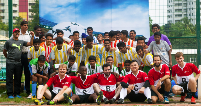 The BRICS mini-cup brought together six children teams from different parts of Mumbai, India's financial hub. Source: Alexandra Katz