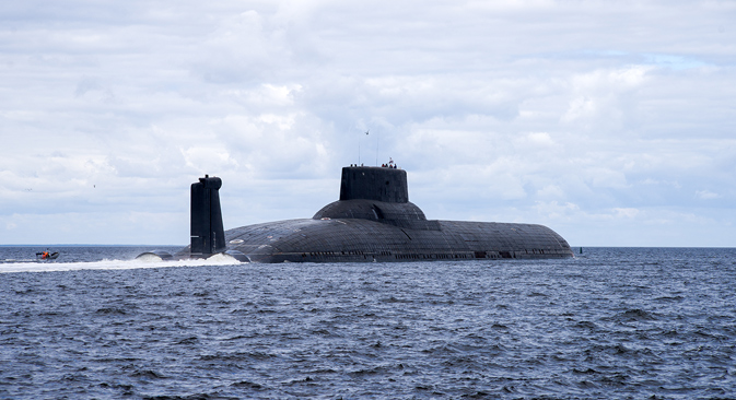 The Akula-class nuclear submarine is the biggest in the world. Source: Oleg Kuleshov