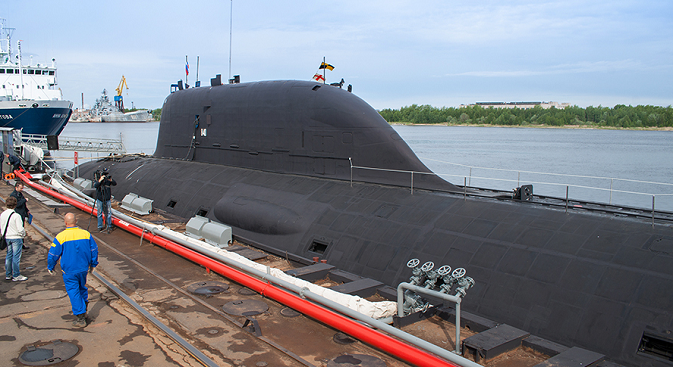 The Yasen class submarine is equipped with eight vertical missile silos, four 650 mm torpedo tubes and four 533 mm torpedo tubes. Source: mil.ru