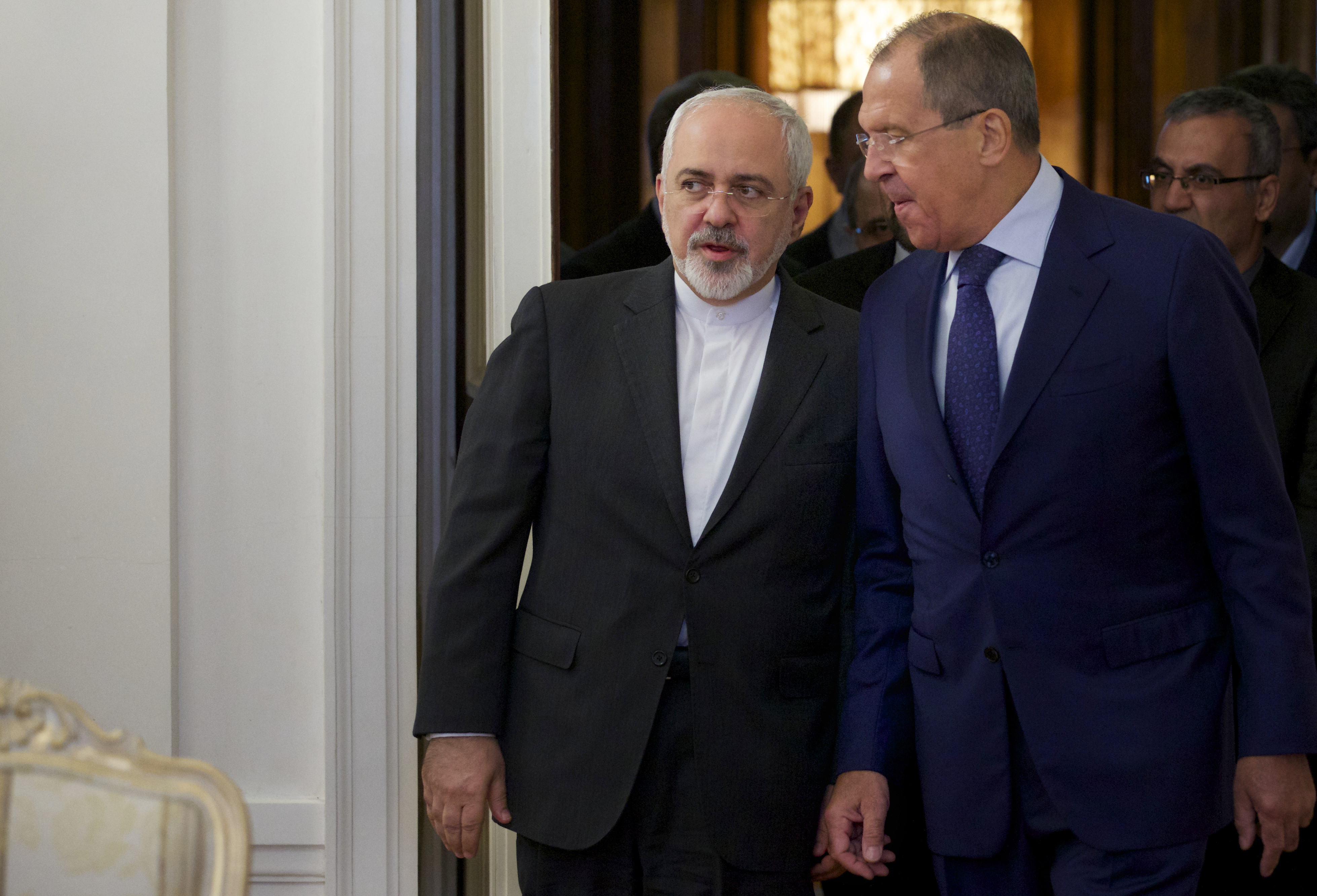 Iranian Foreign Minister Mohammad Javad Zarif and his Russian counterpart Sergei Lavrov
