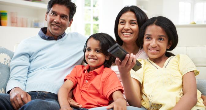 Indians watching TV top