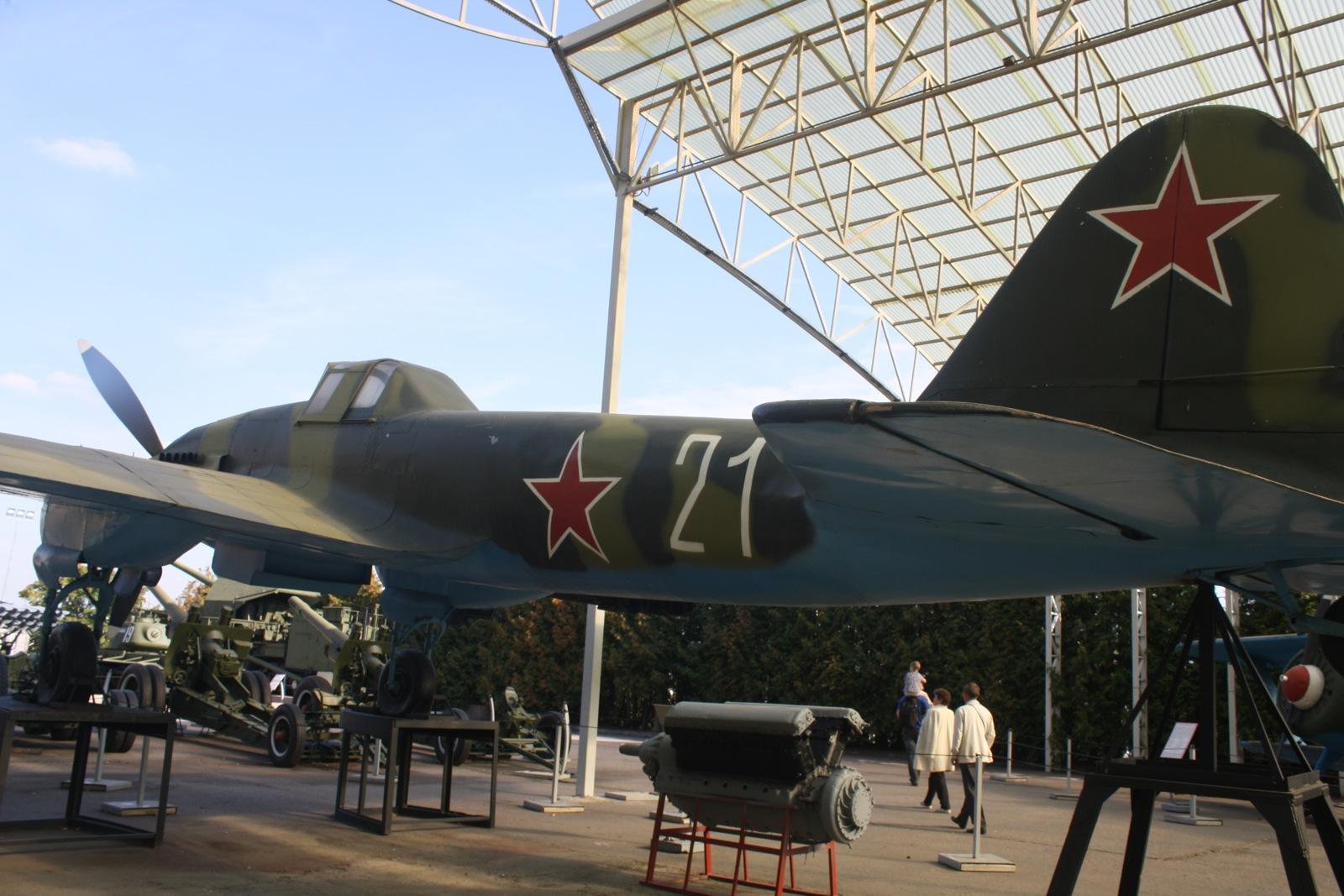 У одељењу за ваздухопловство представљена је збирка совјетских и америчких авиона.