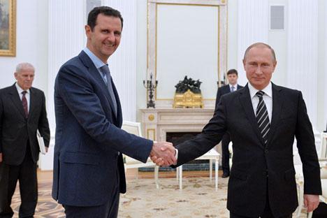 Assad soll sich bei der Gelegenheit bei der russischen Regierung und dem russischen Volk für die Unterstützung in Syrien bedankt haben.