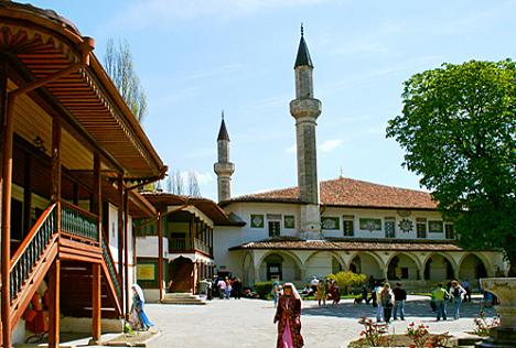 Street view of Bakhchysarai, Crimea.