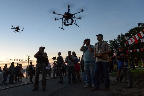 Many people in Russia use UAVs.