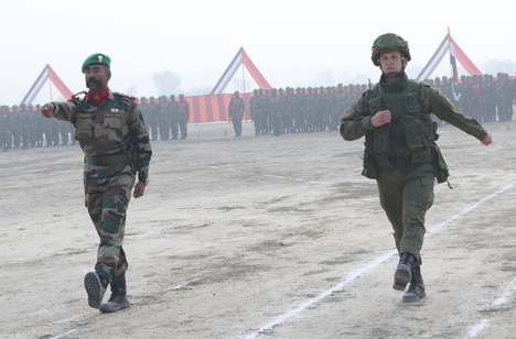 The Indra-2015 international military drills are being held in India's state of Rajasthan November 7-20.