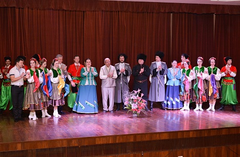 "The Cossack Dance Ensemble ""STANITSA"" from Russia held the audience in thrall."