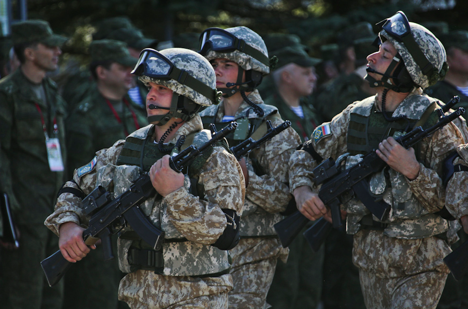 "Russian troops during CSTO ""Interaction-2015"" drills."