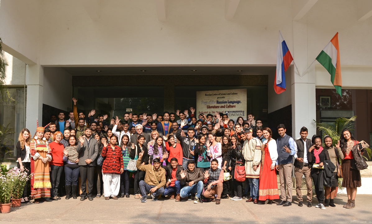 The event provided clear indicators of growing interest in India's youth to strengthen their knowledge of Russia.
