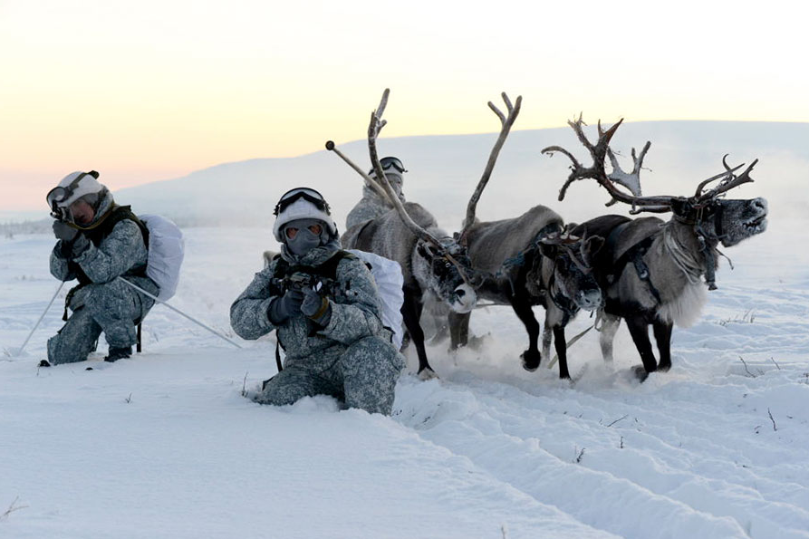 The military exercises were held in the Murmansk region.