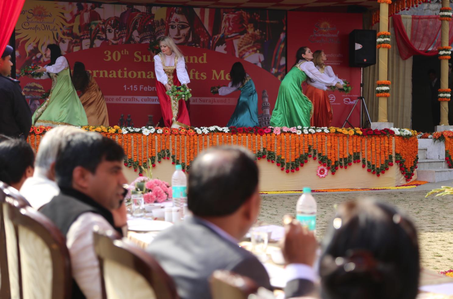 KrasA (Beauty) Ensemble of Folk Song at the international Crafts Mela at Surajkund.
