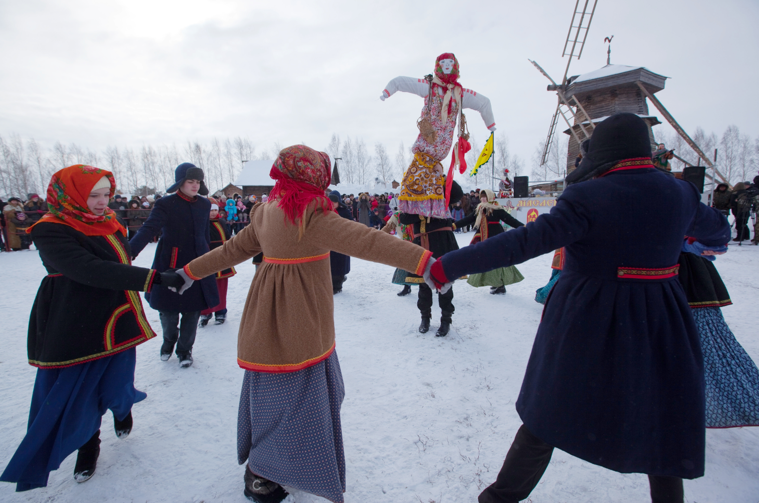 Russians welcome the spring with the Maslenitsa festival.