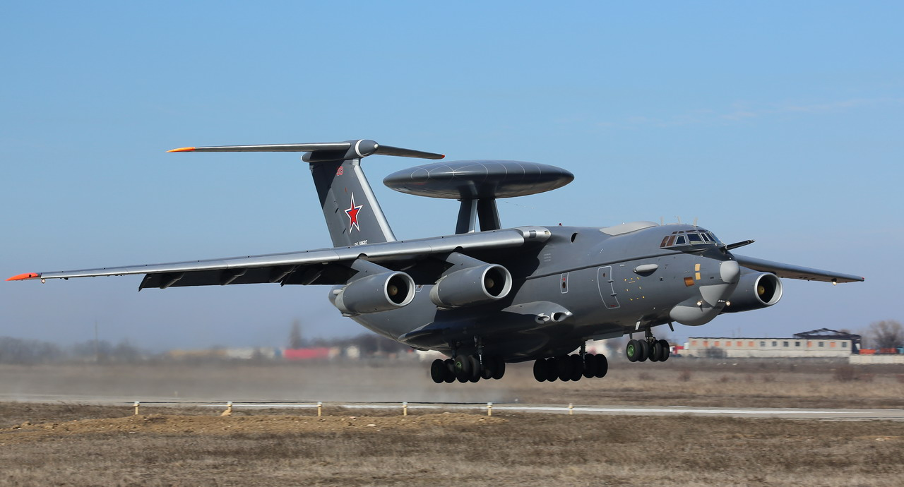 The A-50EI aircraft is based on the Ilyushin Il-76 transport aircraft.