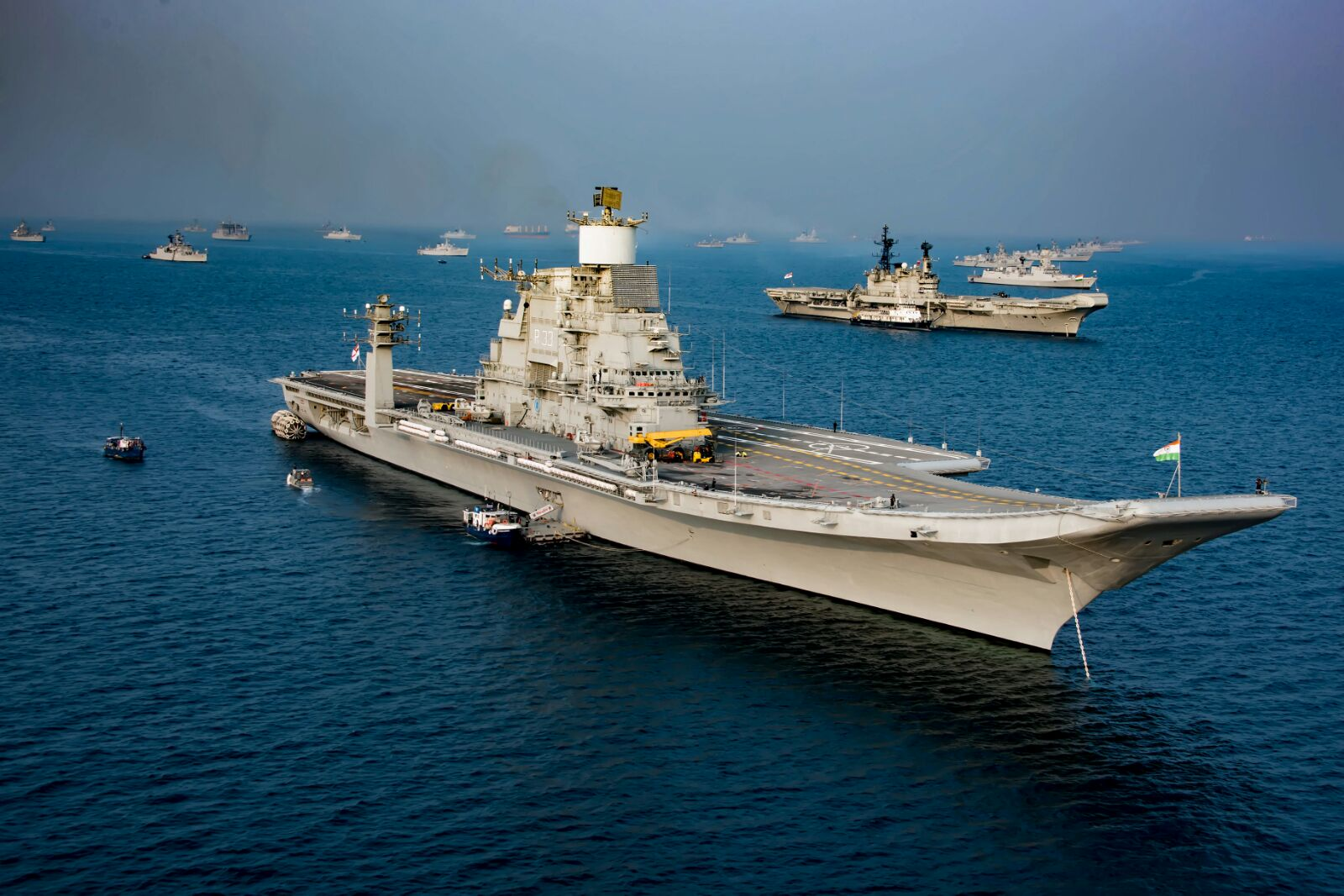GRSE Shipyard, Goa Shipyard, and Hindustan Shipyard held talks with Russia's Morinformsystem-Agat on new joint projects for the Indian Navy.