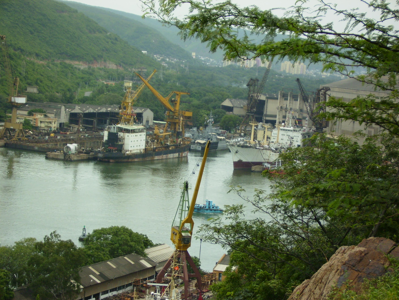 Hindustan shipyard in Visakhapatnam.