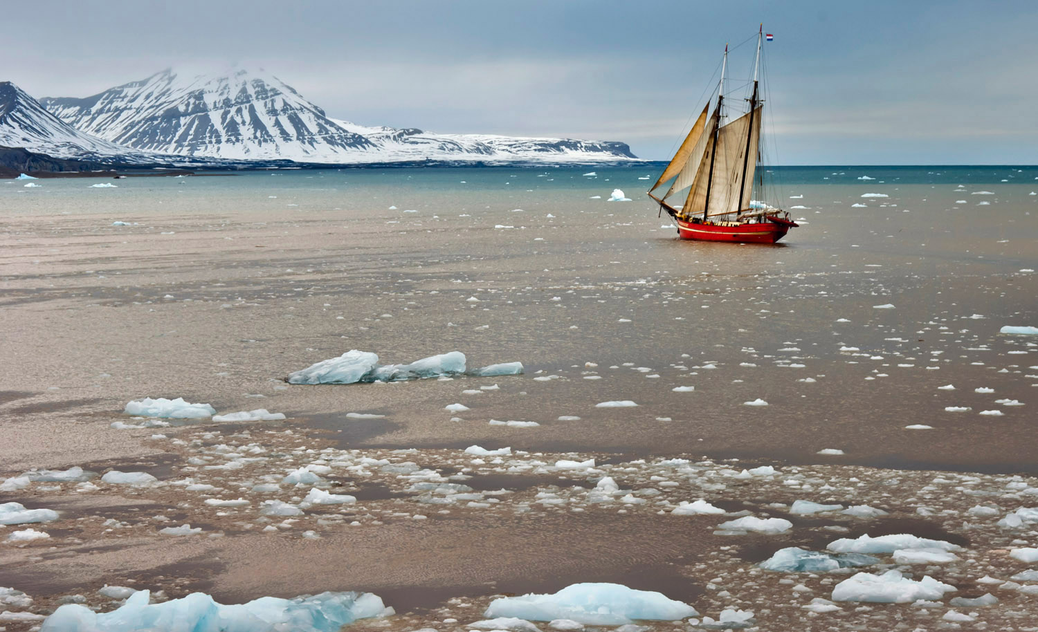 The Russian Arctic occupies an enormous area stretching across the Arctic Ocean.