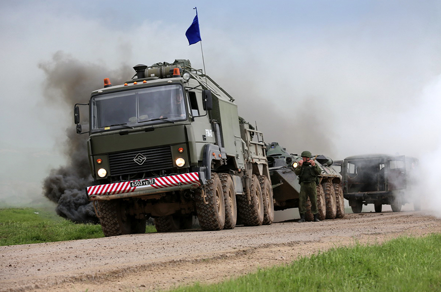 Military units from Armenia, Belarus, Kazakhstan, Kyrgyzstan, Russia and Tajikistan participated in the exercise.