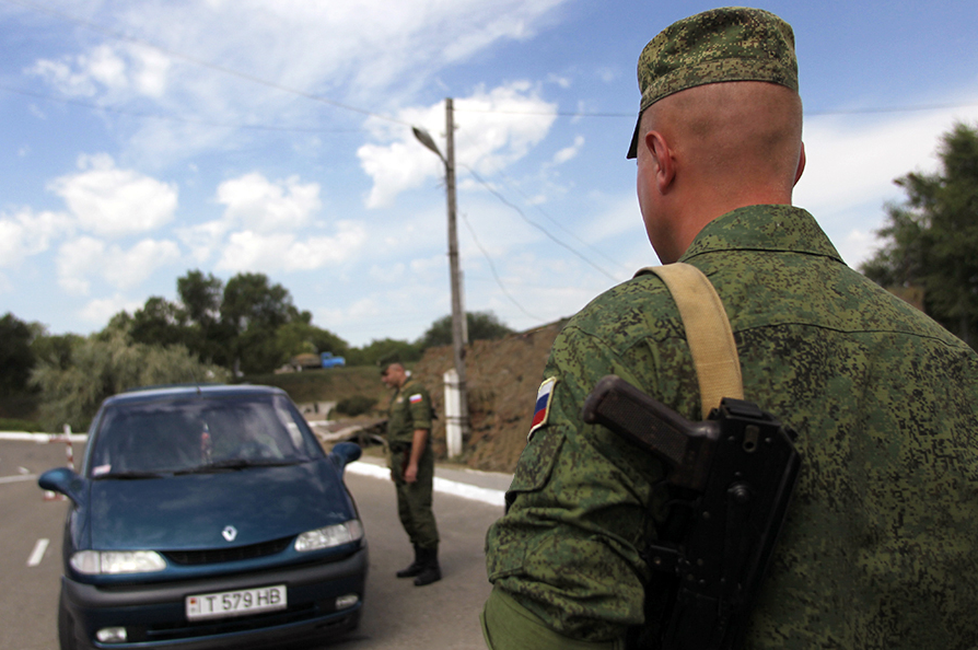 Russian peacekeepers in Transnistria.