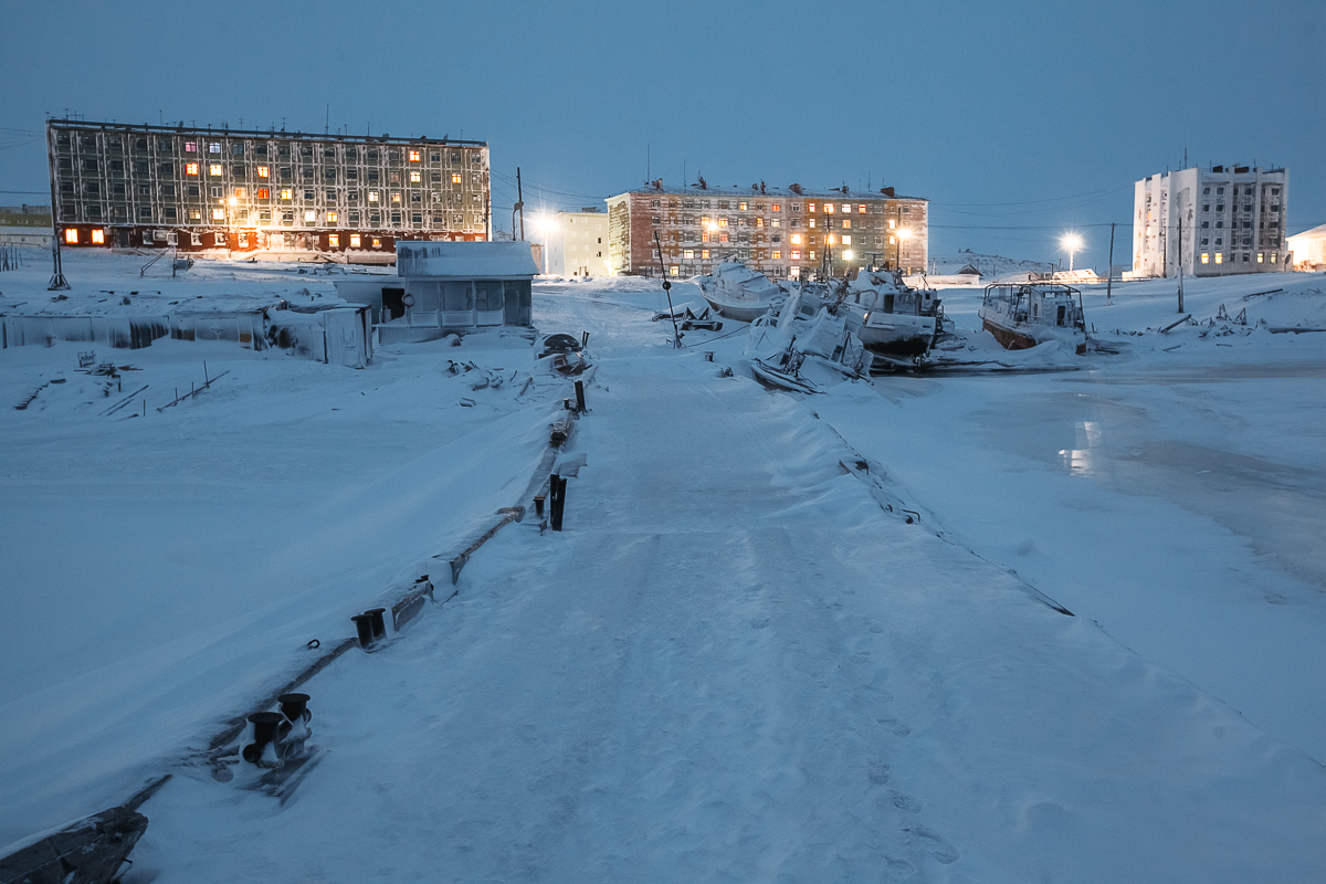 Slice of everyday life in Dikson in Russian Arctic.