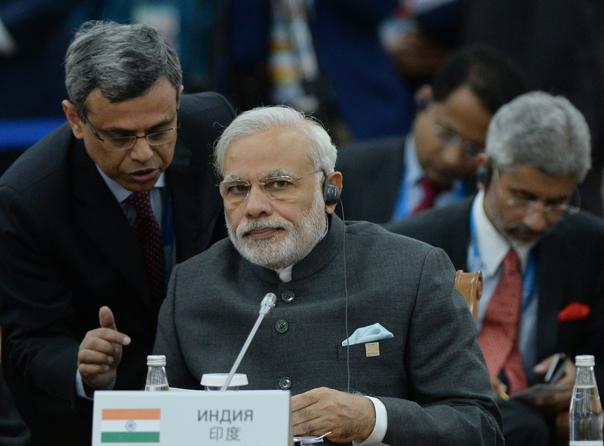 Narendra Modi at SCO summit in Ufa in 2015.
