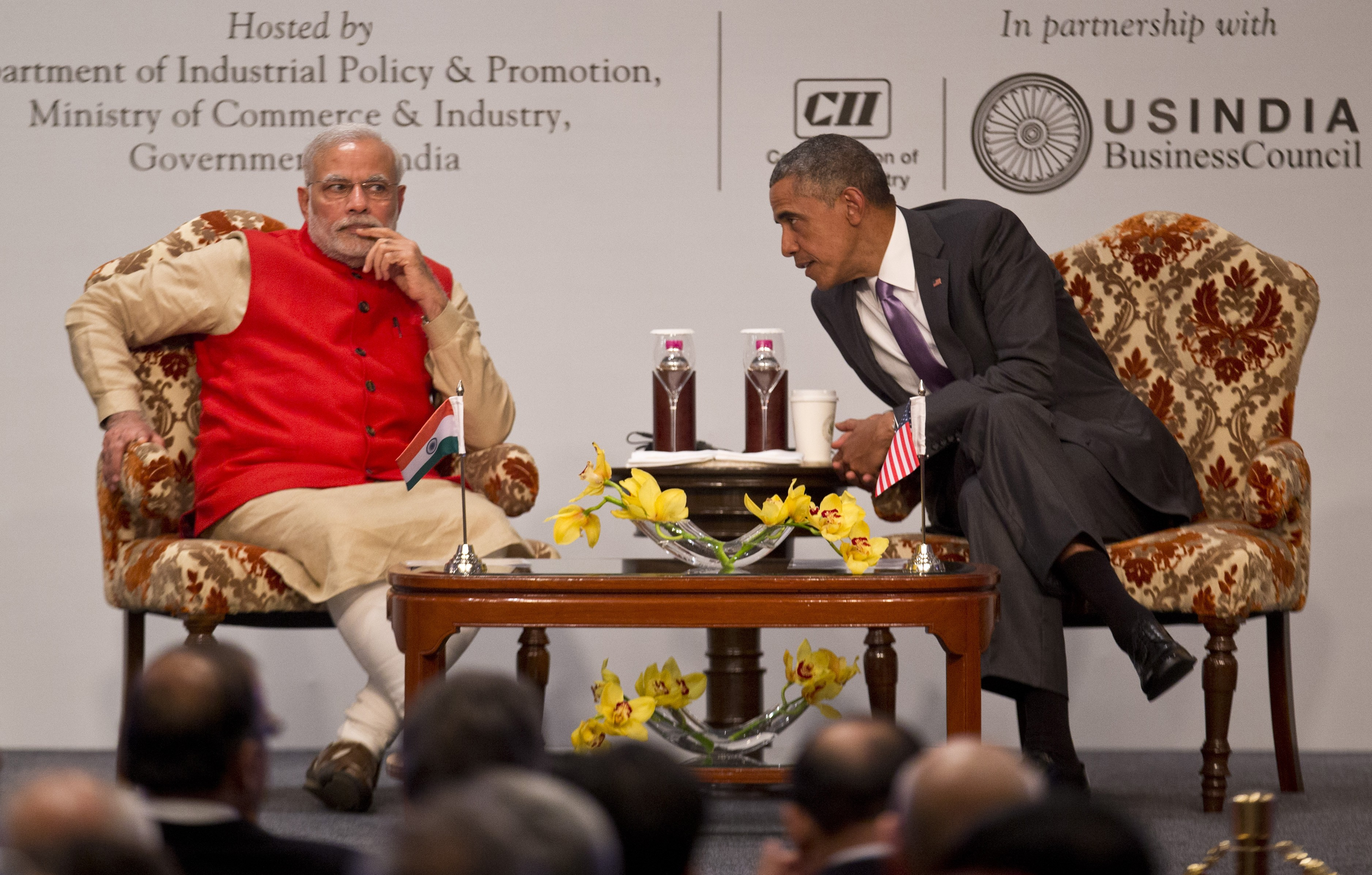 U.S. President Barack Obama and Indian Prime Minister Narendra Modi in New Delhi.
