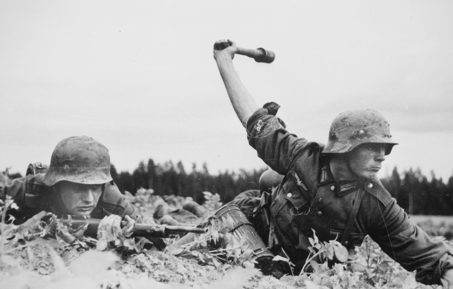 German troops in action.