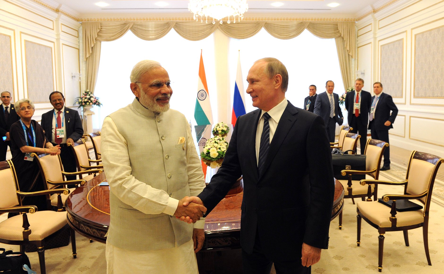 Modi thanked Putin for Russia's strong support for India's application to enter the Nuclear Suppliers Group (NSG).
