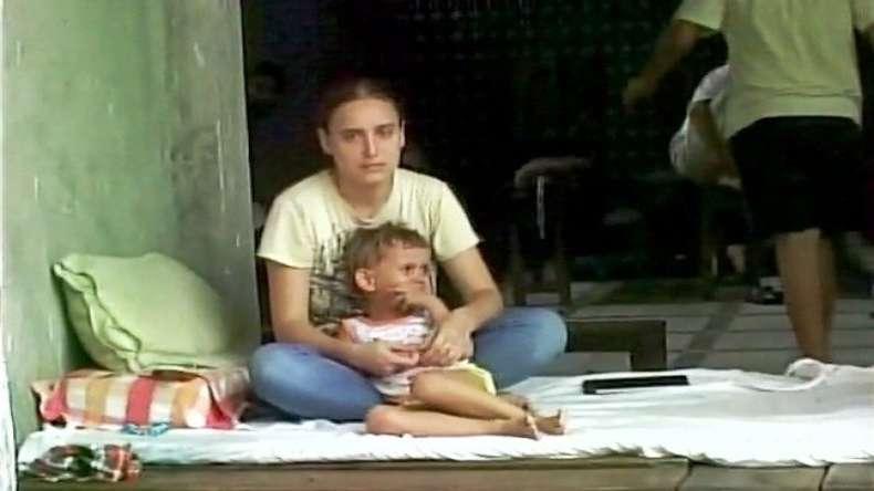 Olga Efimenkova with her daughter.