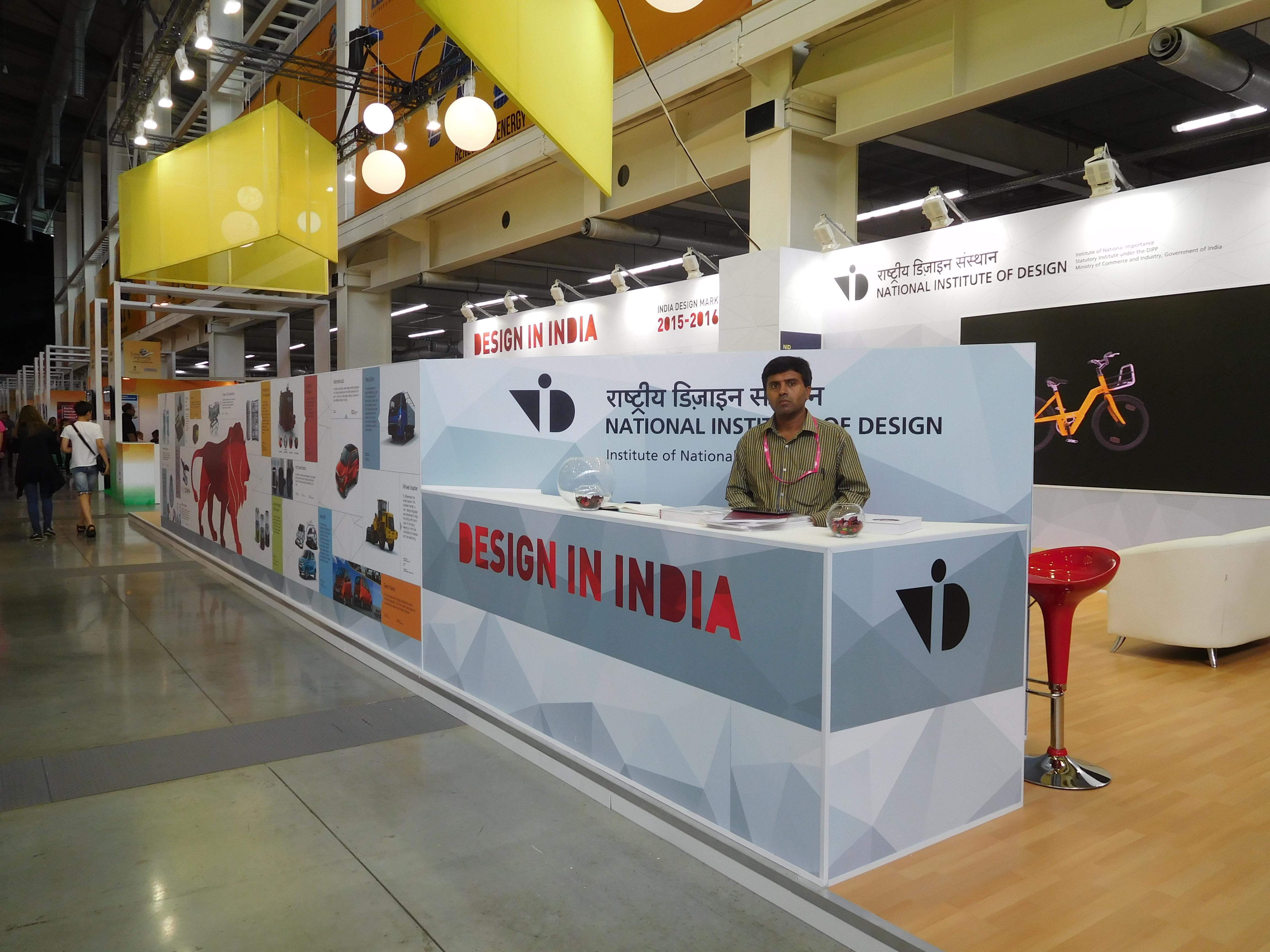 The National Institute of Design represented India at INNOPROM trade fair.