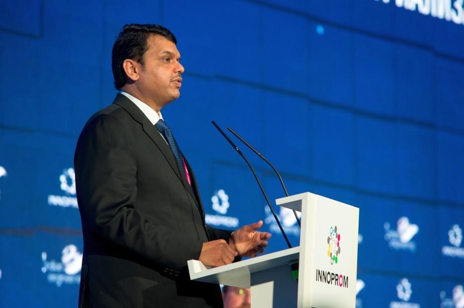 Devendra Fadnavis at INNOPROM trade fair.