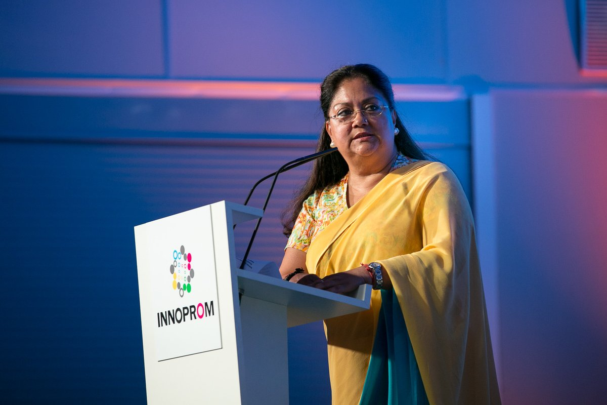 Vasundhara Raje, the Chief Minister of Rajasthan state.